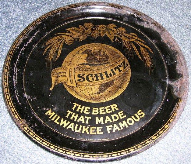 Vintage JOS Schlitz Beer Tray Milwaukee, WI