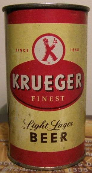 Vintage Krueger Light Lager Flat Top Beer Can