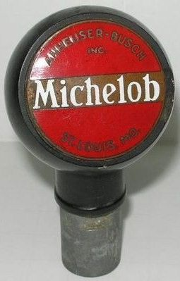 Old Collectible Michelob Ball Knob Beer Tap Handle