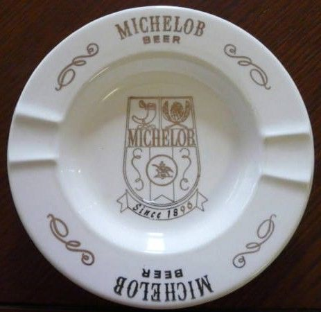 Vintage Michelob Beer Porcelain Ashtray