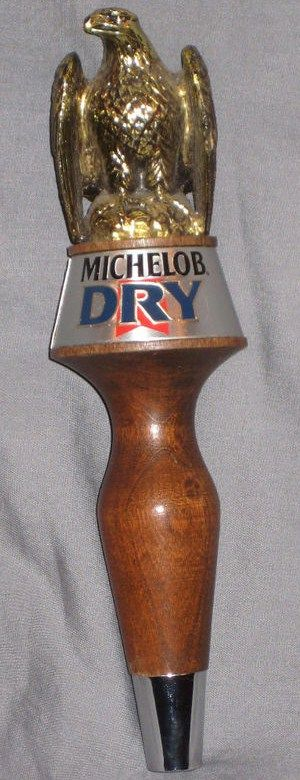 Vintage Michelob Dry Oak Wood Beer Tap Handle