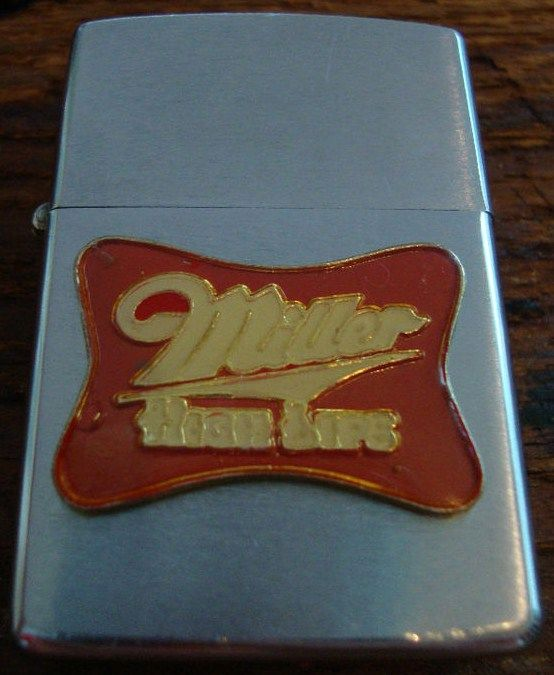 Vintage Miller High Life Beer Zippo Lighter 1973