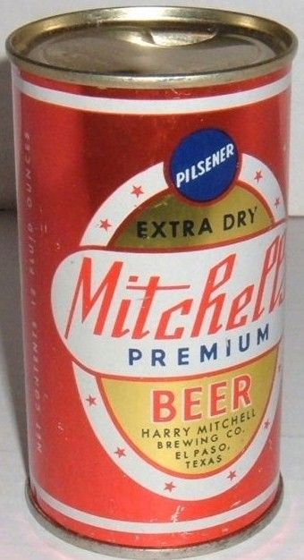 Vintage Mitchell's Flat Top Beer Can