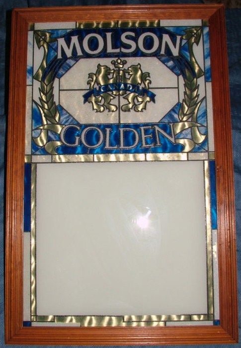 Vintage Molson Golden Canada Beer Menu Board