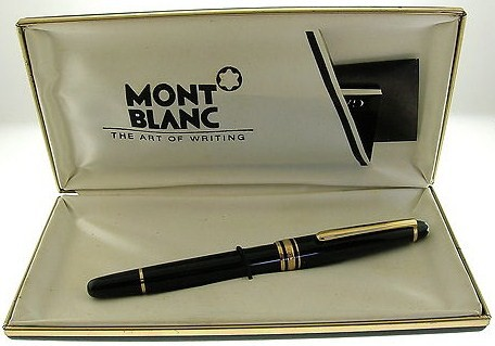 Vintage Montblanc Fountain Pen 14K Gold 4810 Nib Black