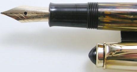 Pelikan 500 NN Fountain Pen Rolled Gold Tortoise