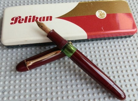 Vintage Red Pelikan 140 Fountain w/Original Box
