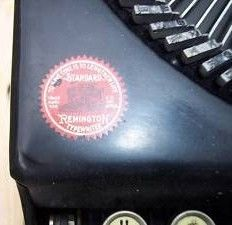 Vintage Remington Portable Typewriter Logo