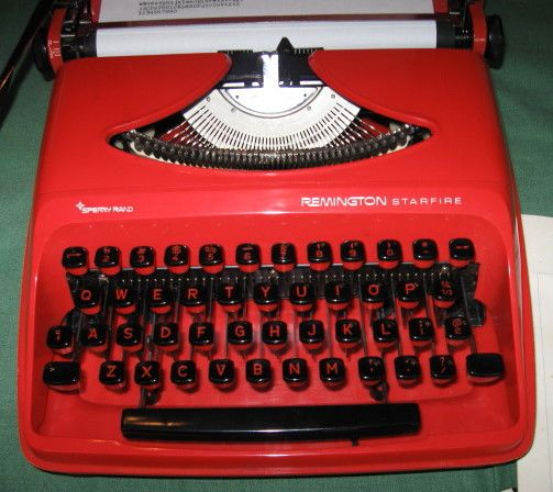 Remington Starfire Typewriter Bright Red