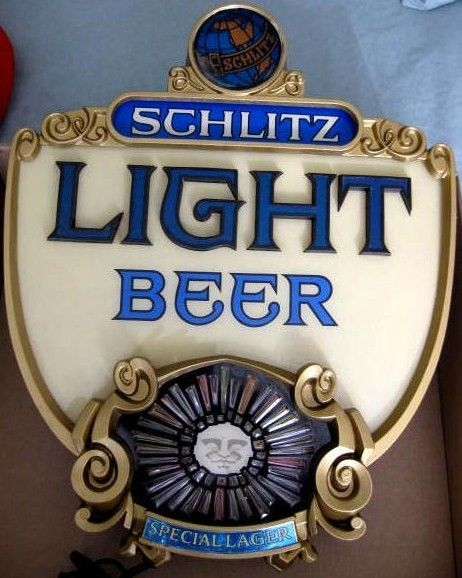 Classic Schlitz Light Beer Bar Light