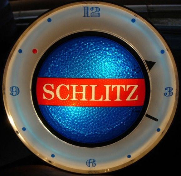 Vintage Schlitz Motion Beer Clock 1961