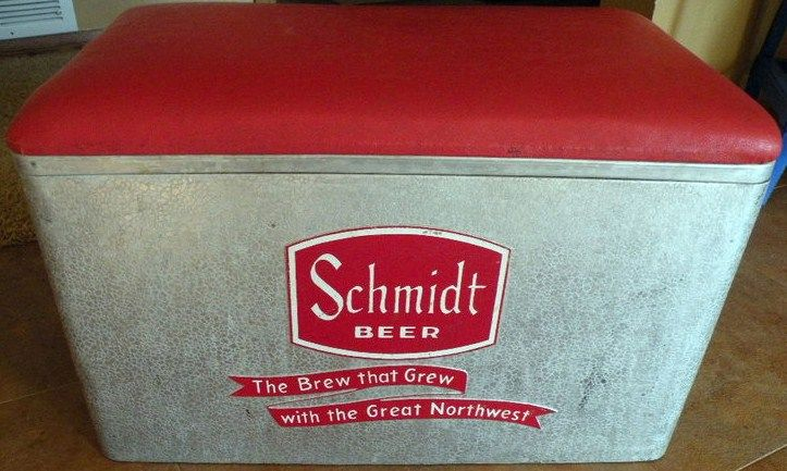 Old Schmidt Beer Cooler-Ice Chest