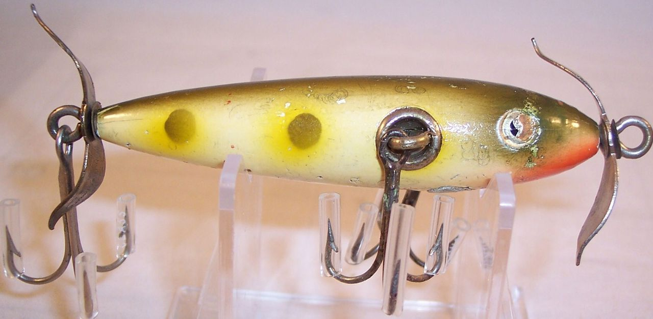 Vintage Shakespeare Rhodes 3-Hook Torpedo Fishing Lure