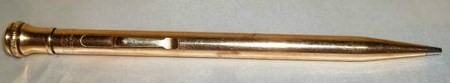 Vintage Signed Wahl Eversharp Gold Filled Mechanical Pencil