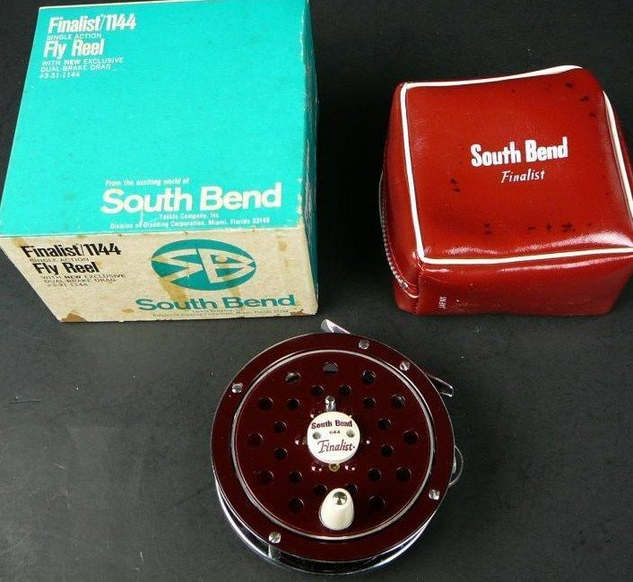 Vintage South Bend 1144 Finalist Single Action Fly Reel w/Box