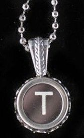Vintage Typewriter Key Necklace T