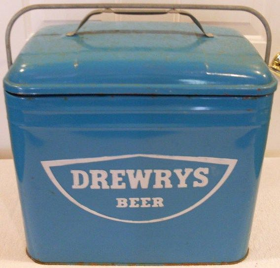 Vintage Drwery's Beer 1950s Cooler Ice Chest