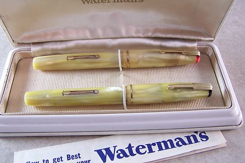 Vintage Waterman Nurses Fountain Pen Set w/Hard Case