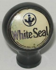 White Seal Ball Knob Beer Tap Handle