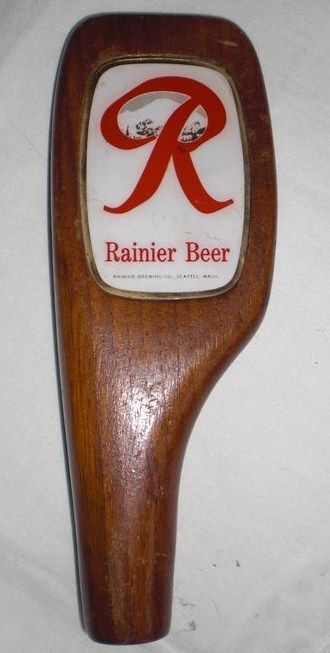 Vintage Wood Rainer Beer Tap Handle