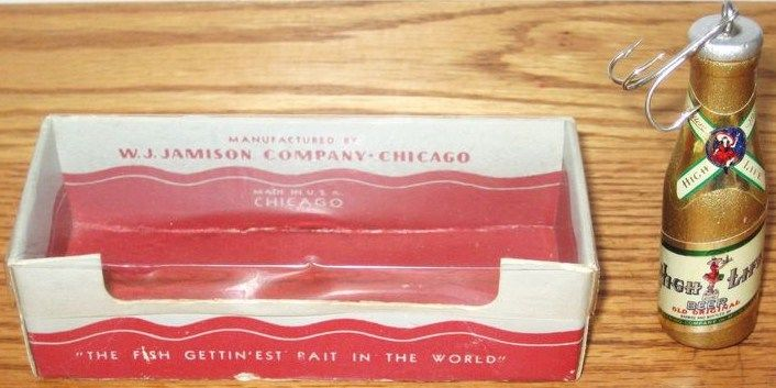 Vintage W.J. Jamison Co. Chicago-Miller High Life Lure w/Box