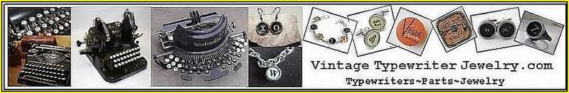 Banner Vintage Typewriter Jewelry