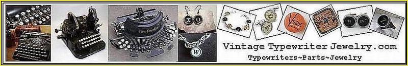 Banner Vintage Typewriter Jewelry