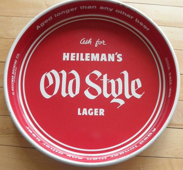 Vintage 13 inch Heilman's Old Style Beer Tray