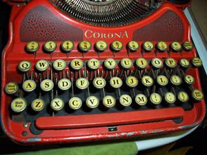 Antique 1920's Smith Corona No 4 Red