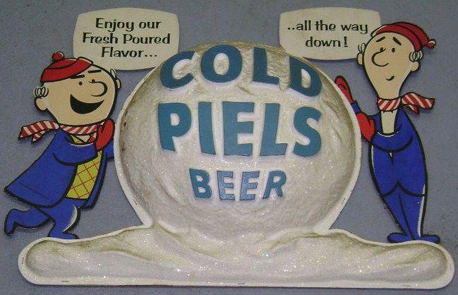 Vintage 1950s Piels Beer Advertising Sign