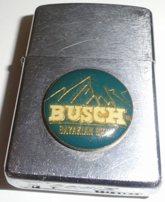 Vintage 1958 Busch Bavarian Beer Zippo Lighter
