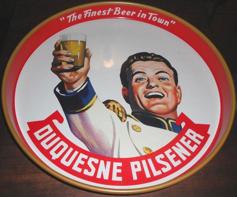 Vintage 1960's Duquense Beer Serving Tray