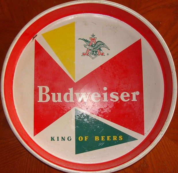 Vintage 1960s Budweiser King of Beer Serving Tray