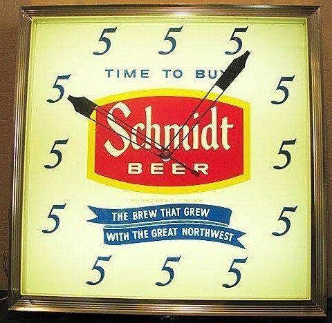 Vintage 1960s Electric Lighted Bar Minnesota Jacob Schmidt