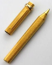 Vintage 1980s Cartier Vendome 18k Gold Plate Trinity Rollerball Pen