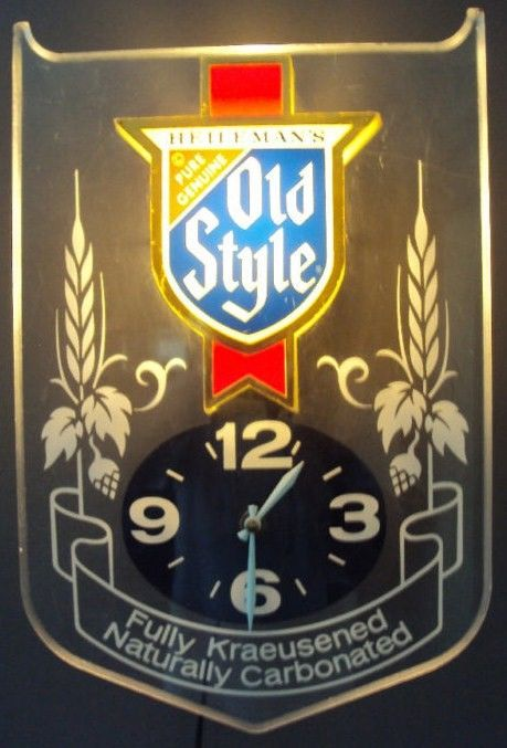 Vintage 1982 Old Style Beer Clock
