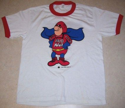 Vintage 1987 Bud man T-Shirt