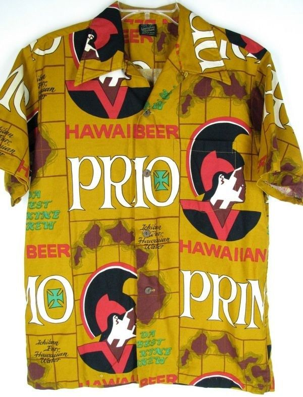 Vintage 1960s Primo Beer Aloha Hawaiian Shirt Ichiban