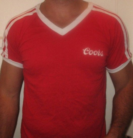 Classic Vntg 80's Coors Beer Red Tshirt