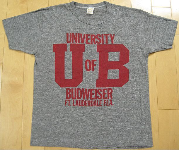 University of Budweiser Vintage 80's Tshirt
