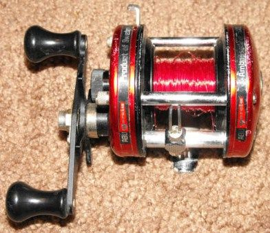 Vintage Abu Garcia Ambassadeur Cherry Red 5000 Fishing Reel