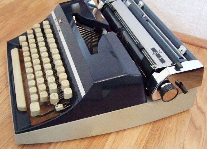 Vintage Adler Cursive Typewriter Western Germany