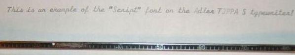 Adler Tippa S Portable Script Font Sample