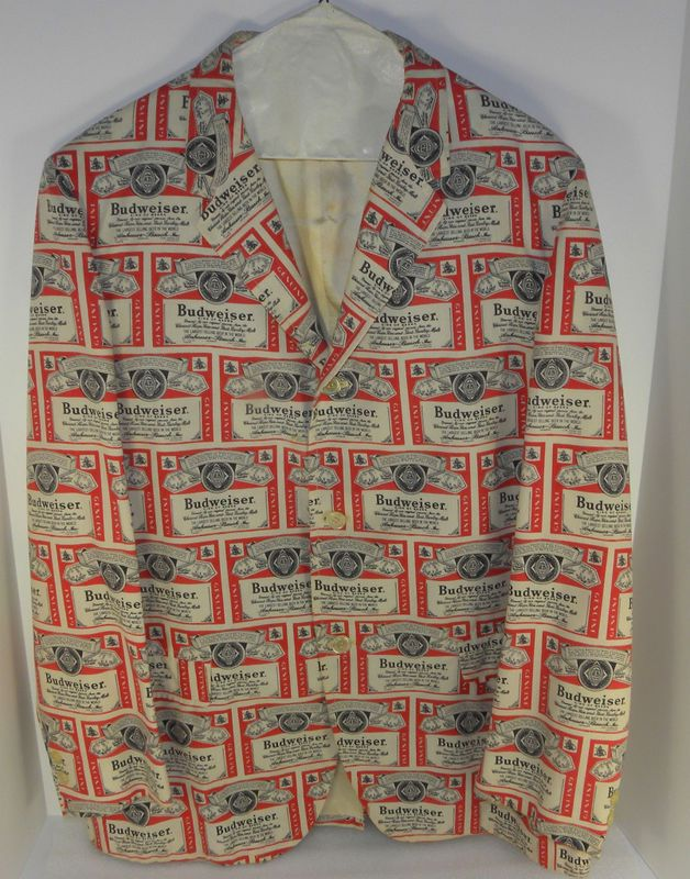 Vintage Anheuser Busch Budweiser Beer Salesman Blazer jacket