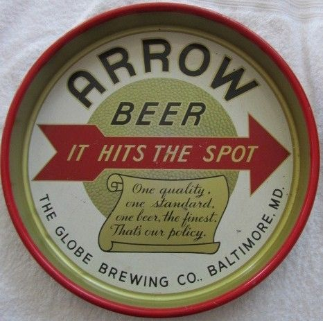 Vintage Arrow Beer Tray