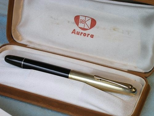 Vintage Aurora 88 Piston Fill Fountain Pen w/Original Box