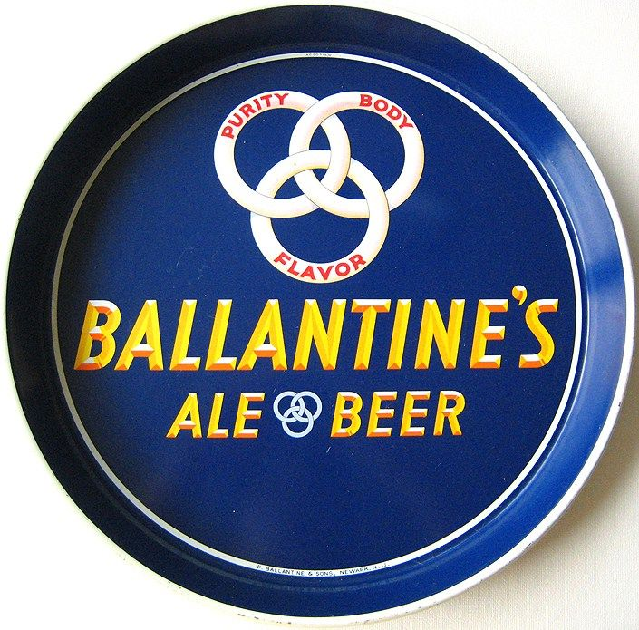 Vintage Ballantine's Ale Beer Tin Tray