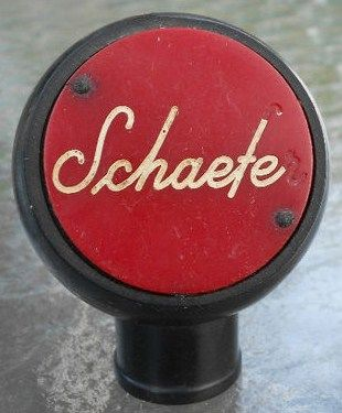 Vintage Schaefer Beer Tap Handle Knob Front