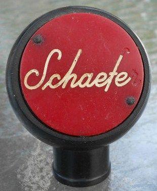 Vintage Schaefer Beer Tap Handle Knob Front