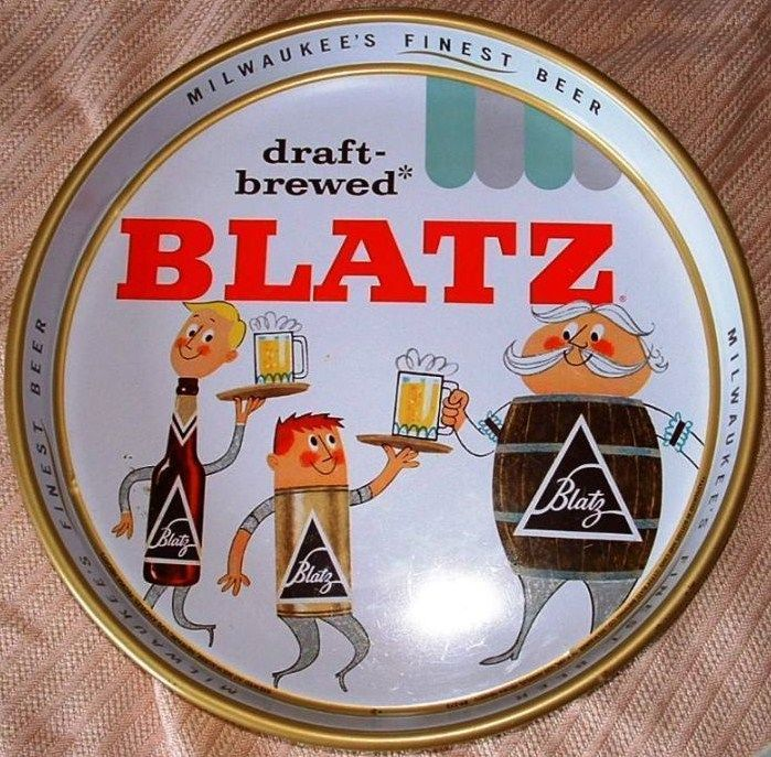 Vintage Blatz Beer Serving Tray 1959
